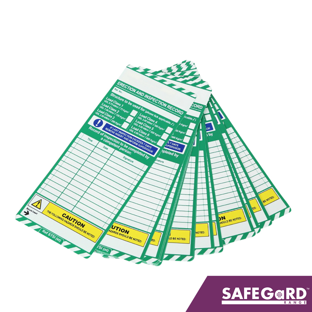 Scaff-tag Inspection Record Insert - Safegard