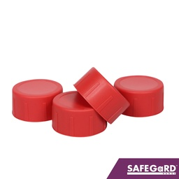 [S0113-C4] Scaffold End Caps Red 200pk - Safegard