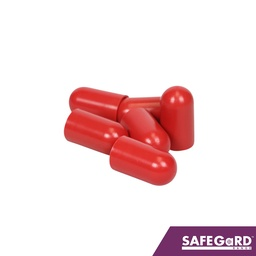 [S0113-C5] Scaffold Stud Bolt Caps Red 1000pk - Safegard